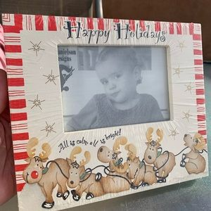 NWT Christmas wooden picture frame